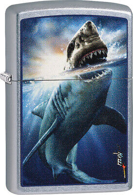 Zippo Lighter Mazzi Shark Attack windproof made in usa 01360