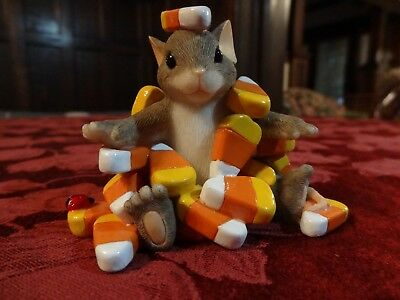 """Charming Tails By Fitz & Floyd  Figurine """"candy Corn Caper"""" 85/104"""