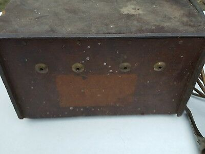 Antique welding machine wood case DYNAMIC SUPERCHARGED WELDER MISSING NAME PLATE