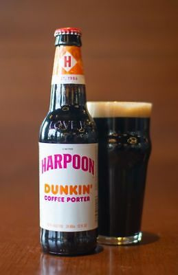 Harpoon Dunkin Donuts Coffee Porter Beer LIMITED EDITION