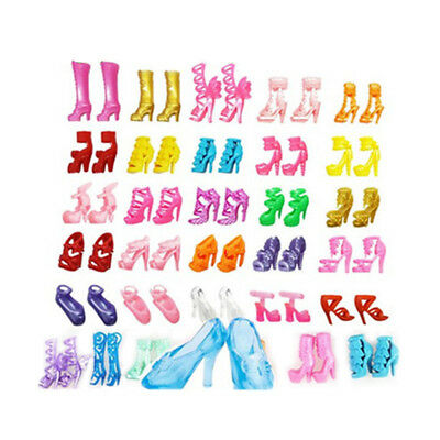 80pcs 40 Pairs Mini Different High Heel Boot Shoe For 29cm Doll Dresses