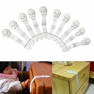 10Pcs Child Infant Baby Kids Drawer Door Cabinet Cupboard Toddler Safety Locks