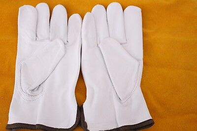 """Genuine Goat Leather Construction Rigger Gloves """"Large Size Fits Most"""