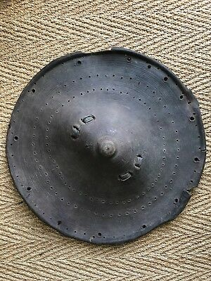 19th Early 20th Century Antique Ethiopian Abyssinian Warrior Leather Shield