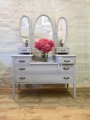 Lavender Painted Edwardian Dressing Table - Free local ground floor delivery
