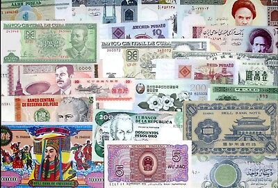 Worldwide LOT diff.Banknotes ALL UNC x 20 PCS