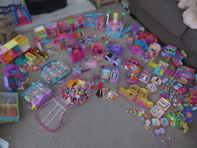 Massive Job Lot Vintage Polly Pocket Collection Dolls/Playsets/Compacts/12kg