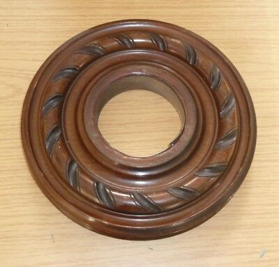 Vintage circular solid wood barometer or clock case