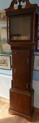 "Victorian longcase clock case C1840 for 14"" dial - case only 84"" by 21"" by 10"""