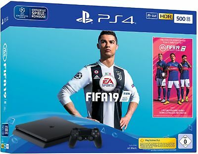 SONY PS4 500GB Jet Black EA Sports Fifa 19 Bundle *NEU&OVP*