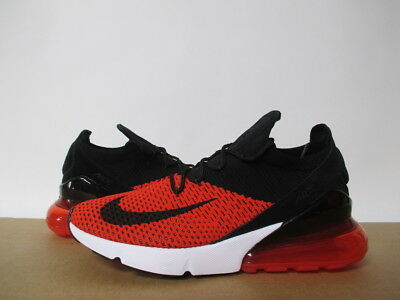 newest a16a5 84758 NIKE AIR MAX 270 Flyknit Chili Red Black Challenge White Sz 8-14