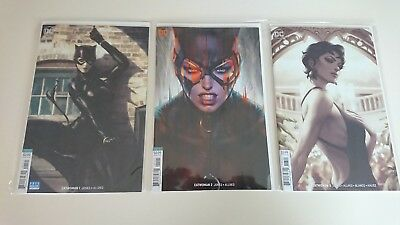 Catwoman #1-3 Artgerm Variants New Bagged And Boarded