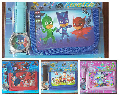 Children's Boys and Girls Watch and Wallet Set Party Fillers Stocking Fillers