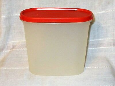 Tupperware 7 1/4 Cups Modular Mates Container #1613 w/Red Lid