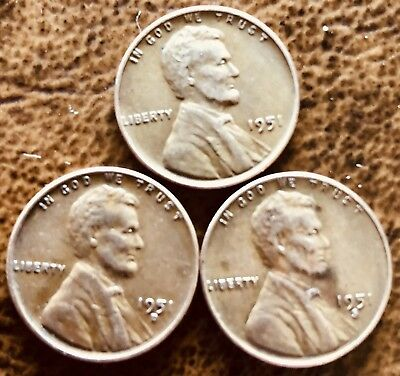 1951 PDS Lincoln Wheat 95% Wheat Penny Set