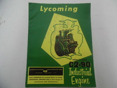 c.1955 Lycoming C2-90 Industrial Farm Engine Catalog Air Cooled AVCO Vintage VG