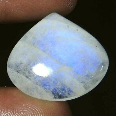 NATURAL PEAR SHAPE RAINBOW MOONSTONE AWESOME LOOSE GEMSTONE 26 x 24 mm  25 CT.