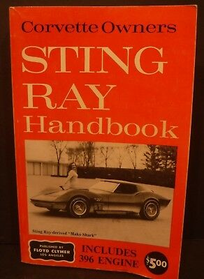 Floyd Clymer Corvette Owners Sting Ray Handbook 1963-1965 Free Shipping/Returns