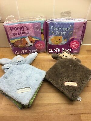 Bundle Of Soft Plush Books Baby Toddler Jellycat X4