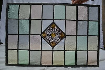 British leaded light stained glass window panel. R826n. WORLDWIDE DELIVERY!