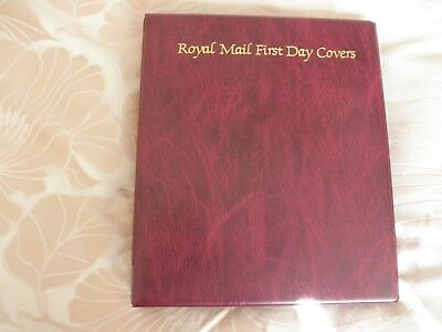 Royal Mail  First Day Cover Red Album  16 Sleeves- Holds 64 Covers