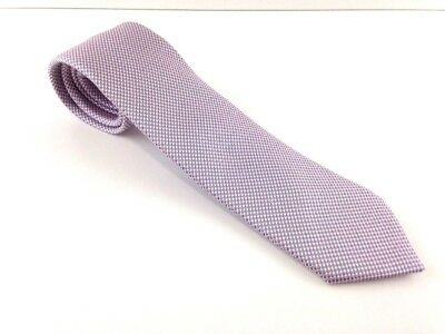 """Recent Mens BRIONI Tie Hand Made Italy Pink And Gray Silk Tie 3 3/8"""" X 60 3/4"""""""