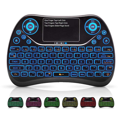 2.4Ghz Wireless Mini Keyboard with Touchpad Backlit Mouse and Multimedia Keys US