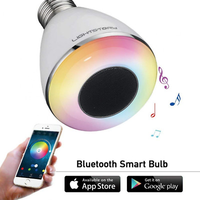Wireless Remote Control Bluetooth Smart LED Light Bulb Lamp with Speaker NEW US