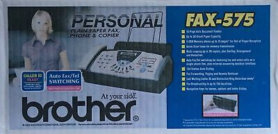 Brother Fax-575 Personal Fax Phone and Copier Factory Sealed + BONUS Refill
