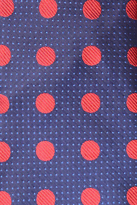f90162e2a661 Eton Woven Silk Tie Navy Blue Sky Blue & Red Polka Dots A Wedding Stunner  Nmcond