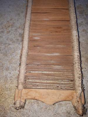 Antique old primitive authentic wooden hand made part of weaving loom