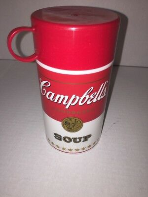 Campbells Soup Thermos Kids Lunchbox Thermos  Vintage 1998