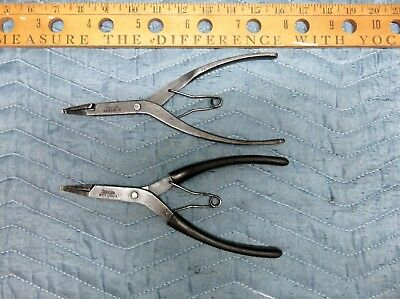 A Pair of Snap On Ring Pliers SRP2 and SRP3 USA.