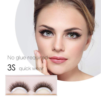 2 pairs Self-Adhesive Eyelashes Pack 3D False Non-Irritating Lashes Strips NEW