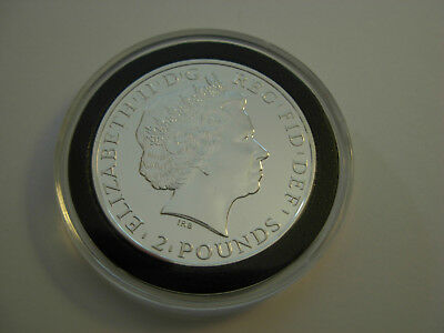 Rare - GREAT BRITAIN £2 2015 YEAR OF THE SHEEP 1 Oz .999 SILVER BU with capsule