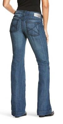 69e1cc2427fdd ARIAT® LADIES OUTSEAM Ella Low Rise Wide Leg Trouser Jeans 10018360 ...