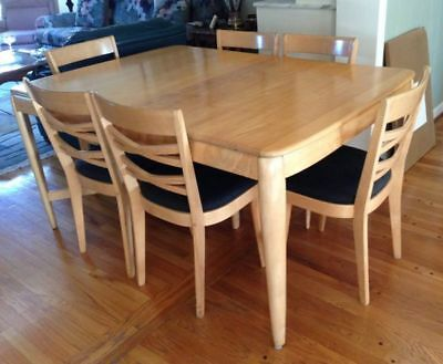 Vintage Heywood Wakefield Solid Wood Dining Table
