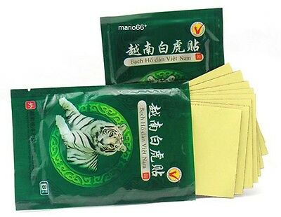White Tiger Balm Plasters Muscle Neck Body Arthritis 8 Pack Patch Pain Relief