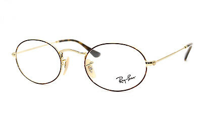 38e6a1428 New Authentic Ray Ban RB 3547V 2945 Tortoise Silver Metal Eyeglasses 48 -21-145