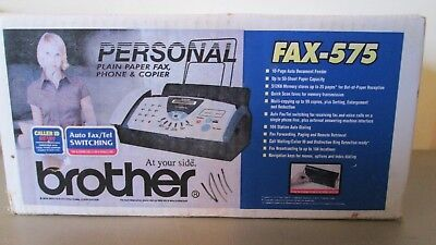New-In-Box Brother FAX-575 Fax Copier Phone Machine FREE SHIPPING
