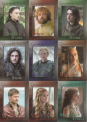 Game of Thrones Season 5 Trading Cards - Basis Set (100 Karten)