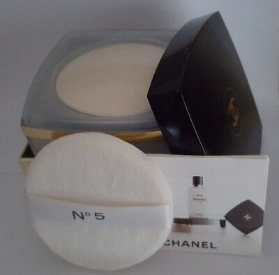 Rare New & Boxed CHANEL No 5 AFTER BATH PRESSED POWDER Talc Body Powder 75g