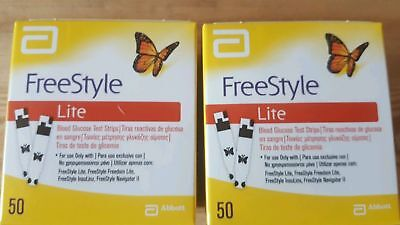 100 Tiras reactivas Freestyle Lite