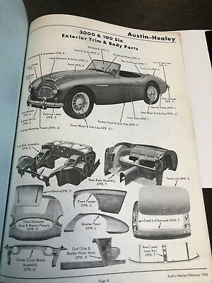 Vintage Austin Healey Damage Repair Manual 100 SIX 3000 SPRITE Shop Parts Book
