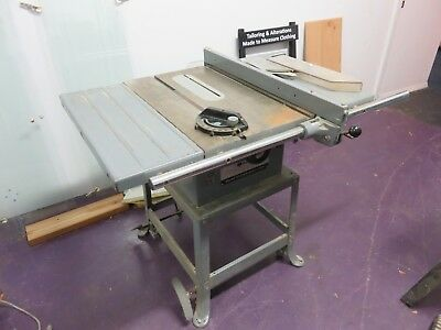 """Delta Rockwell Model 10 Contractor's Table Saw 10"""" Belt Drive With Rolling Stand"""