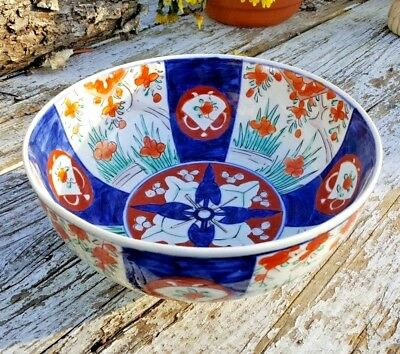 Antique Imari Japanese Hand Painted Porcelain Bowl VGC