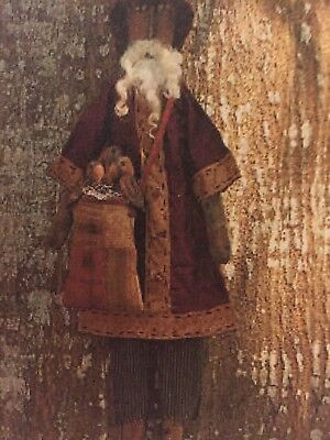 SANTA & HIS SACK OF CROWS - DOLL PATTERN- by THREADBARE PRIMITIVES- UNCUT