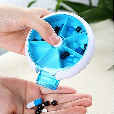 7 Day Travel Pill Box Medicine Tablet Storage Vitamin Dispenser Organiser  820FR