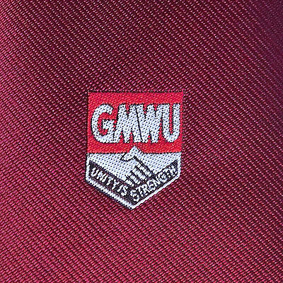 Vintage GMWU Tootal tie 1970s General Municipal Workers trade Union GMB burgundy