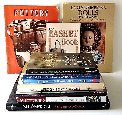 Antique Collect Guide Book Lot Baskets Pottery Furniture Art Appraisal Reference
